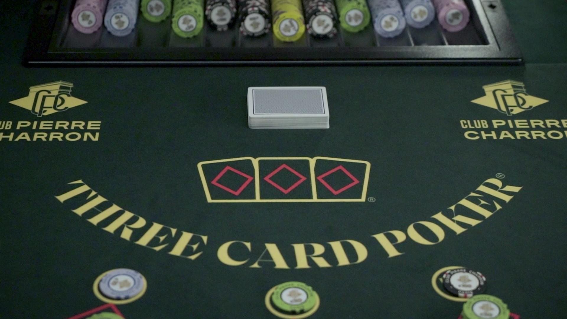 Table de Poker 3 Cartes du Club Pierre Charron