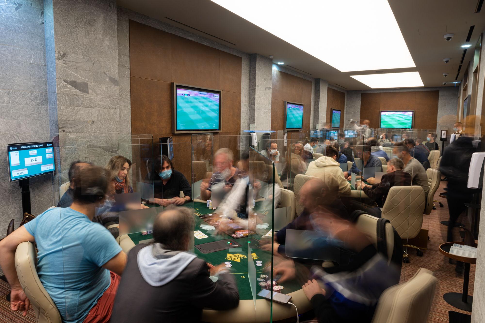 salle de poker du Club Pierre Charron